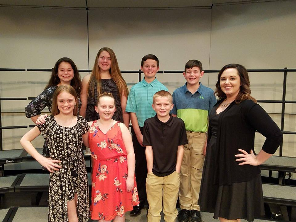 6th grade honor choir students