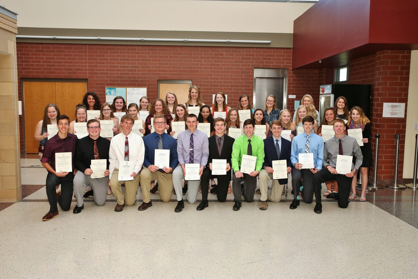 NHS inductees group photo