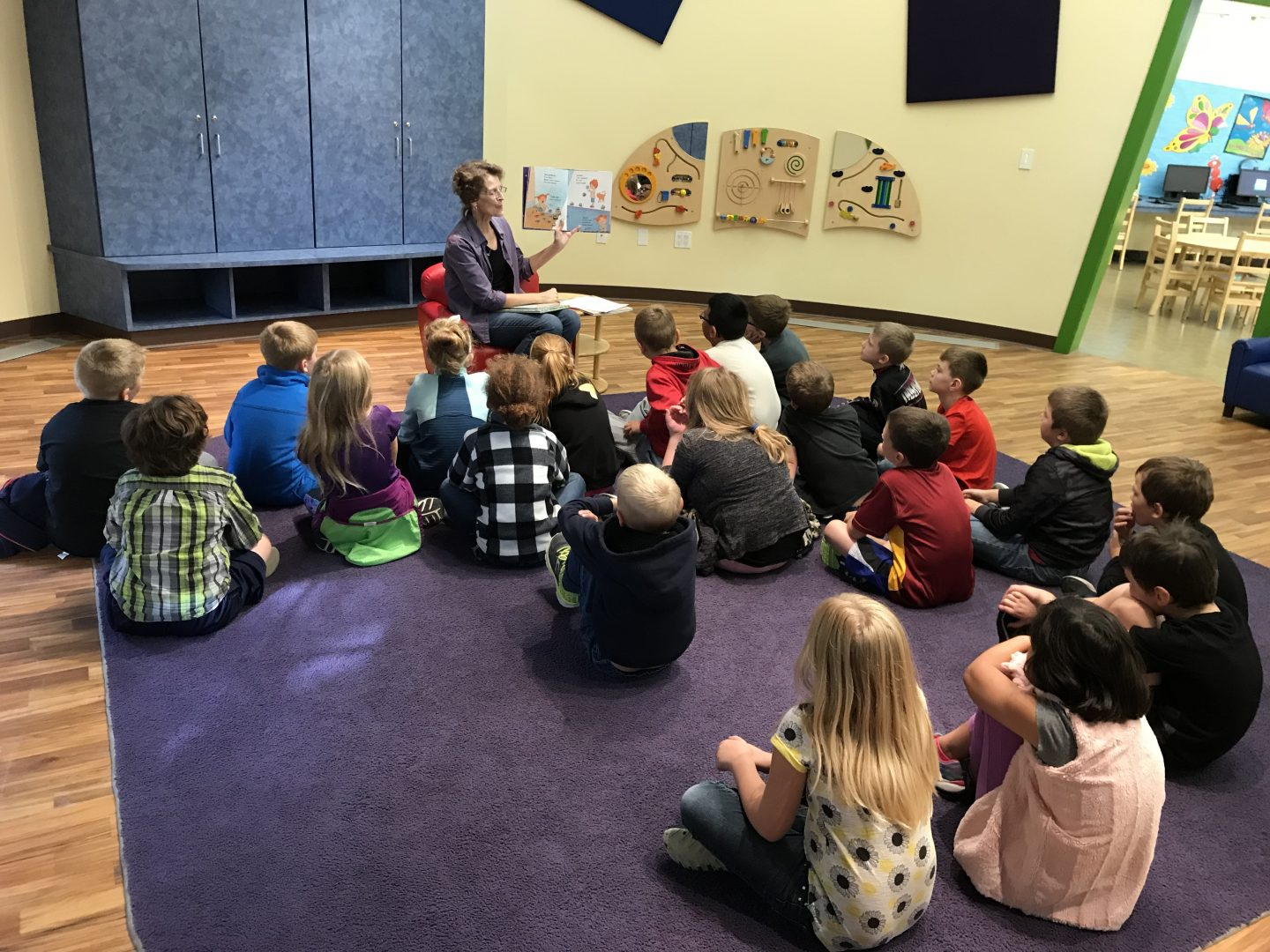 kindergarten at the library