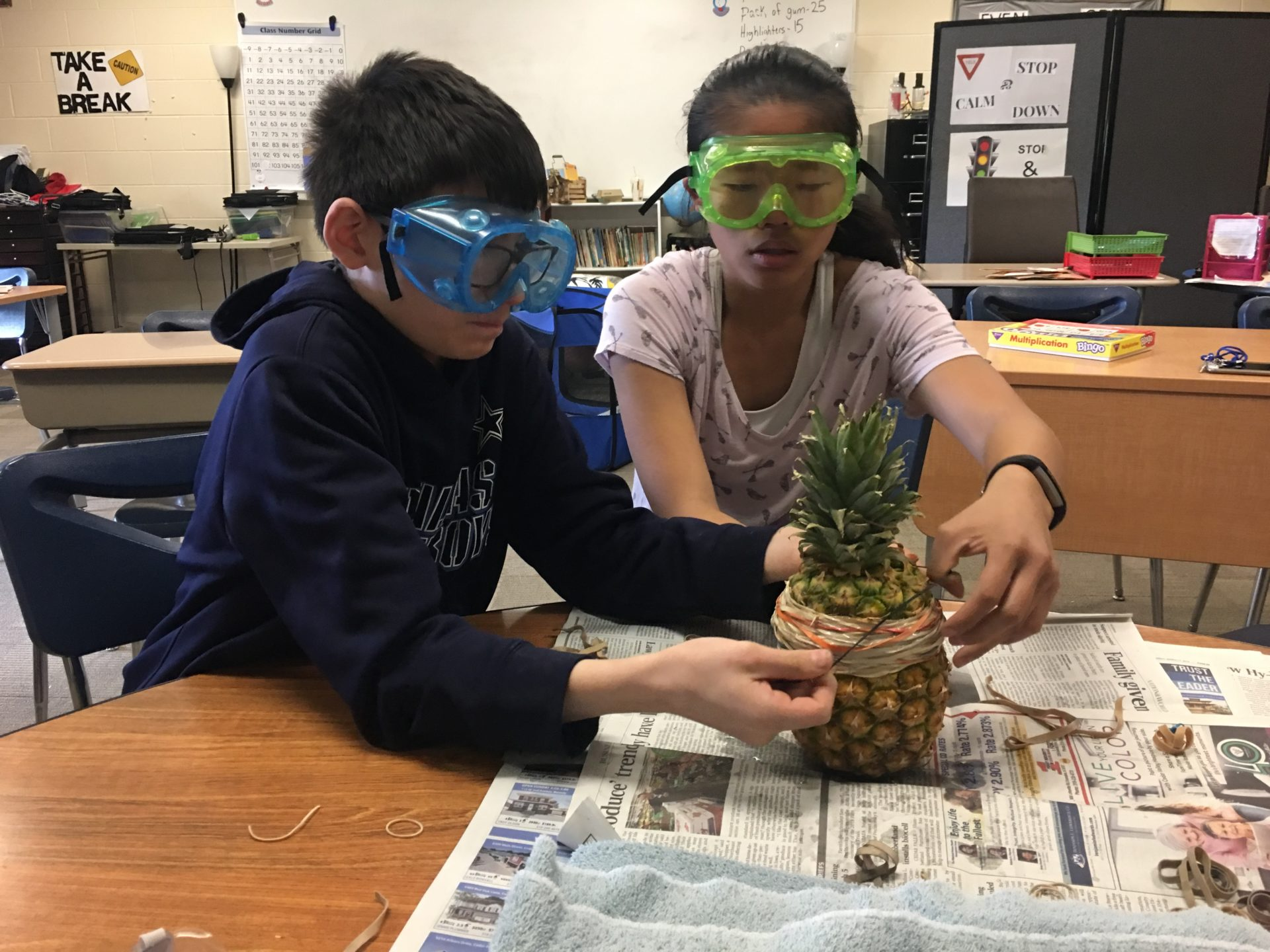 students participate in a science experiment