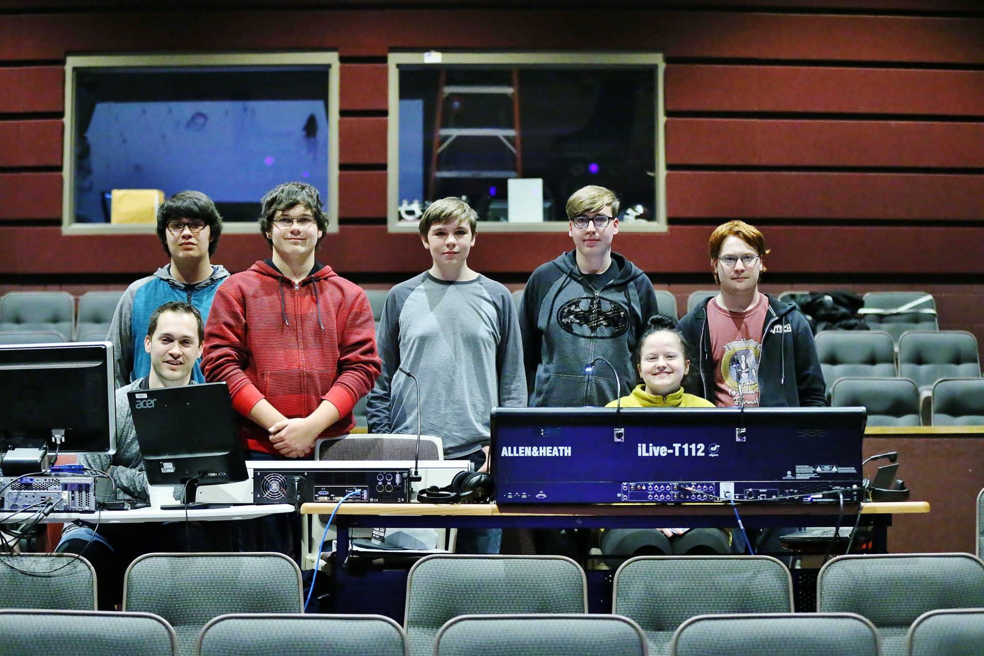 Students learn how to run sound and lights