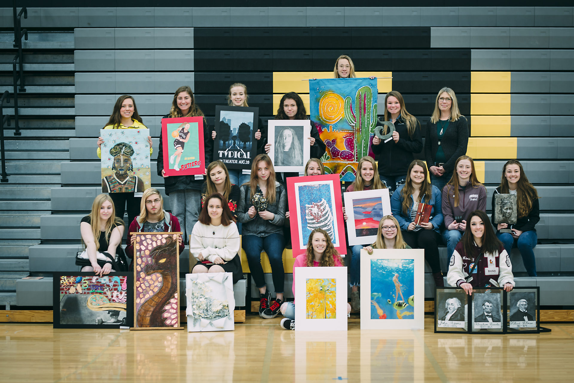 Art students showcase their projects