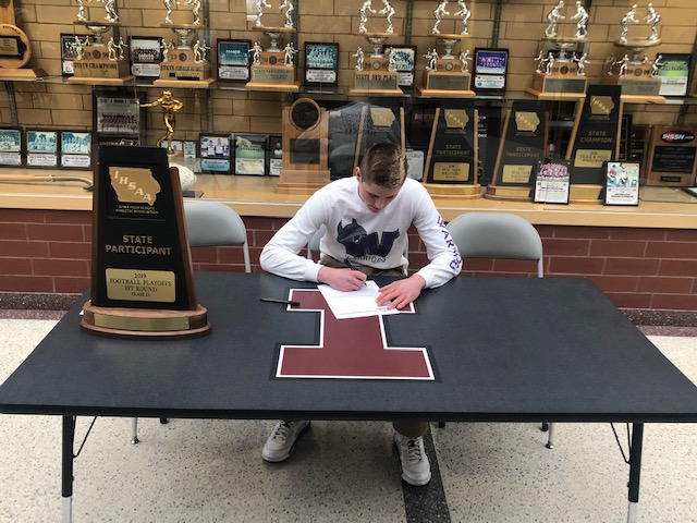 football player signs letter of intent