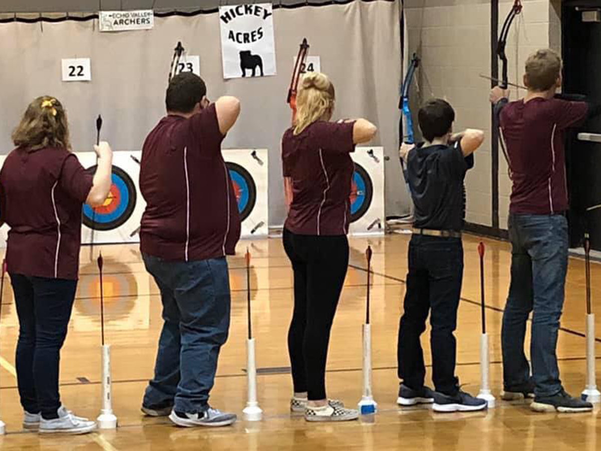 archers aim for their mark