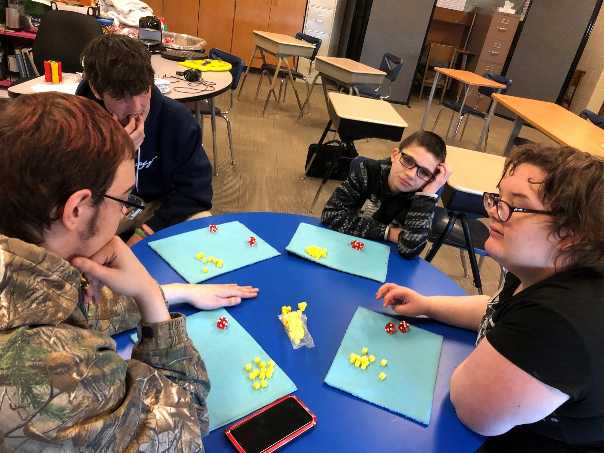 students play a game